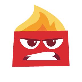 rosto da raiva do desenho divertidamente